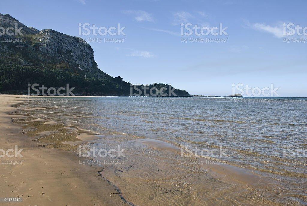 Cantabrian beach stock photo