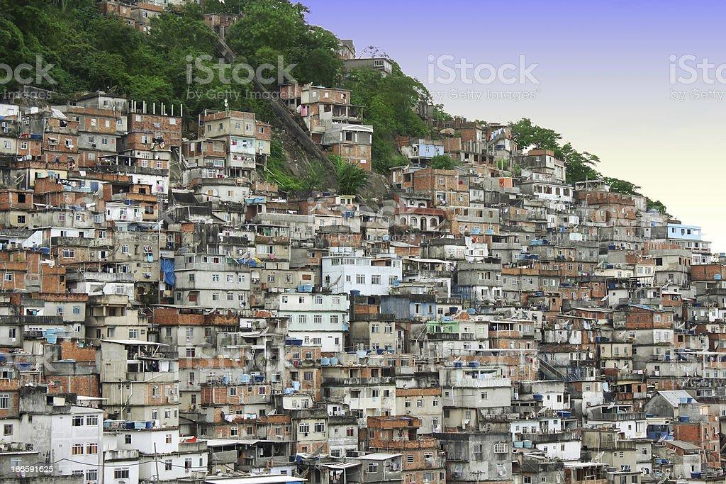 Cantagalo Favela in Rio de Janeiro royalty-free stock photo