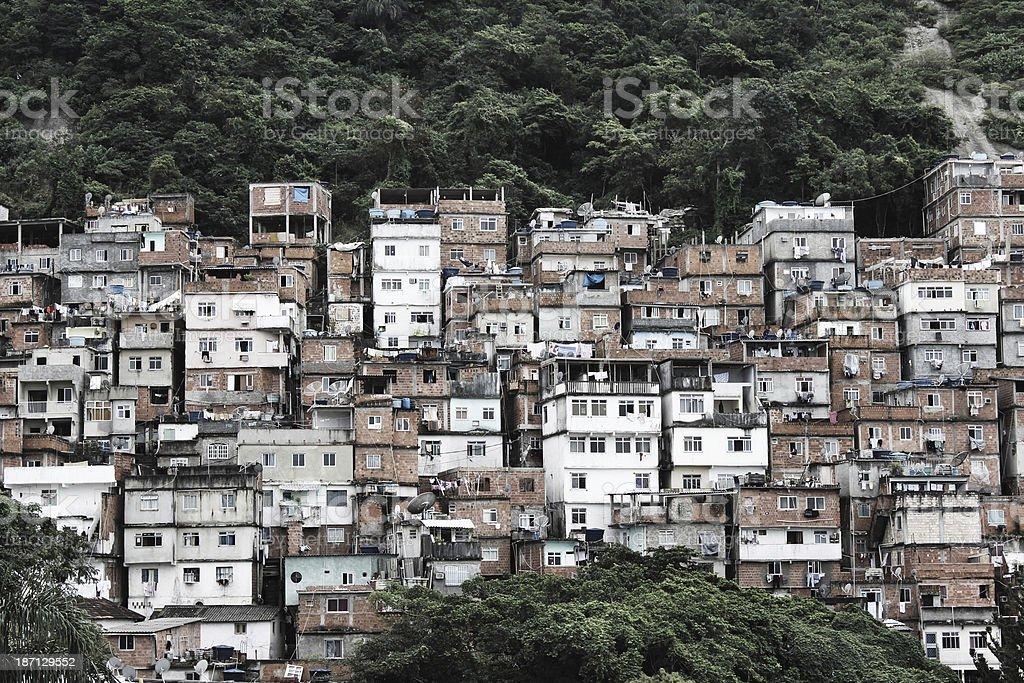 Cantagalo Favela in Rio de Janeiro stock photo