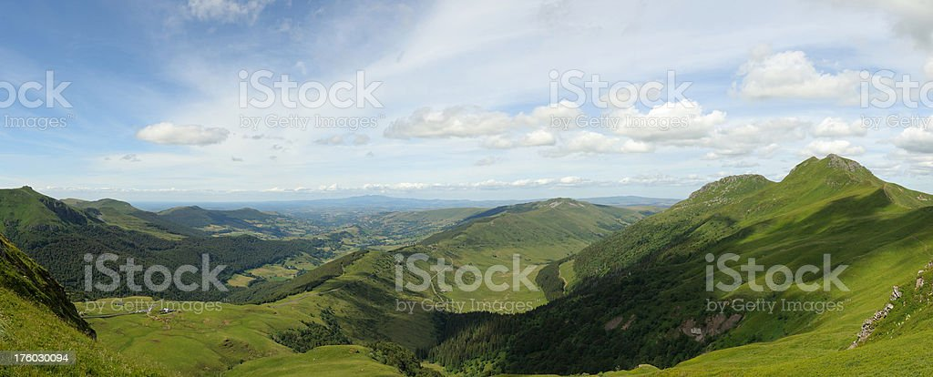 Cantal mountains in Auvergne, France stock photo