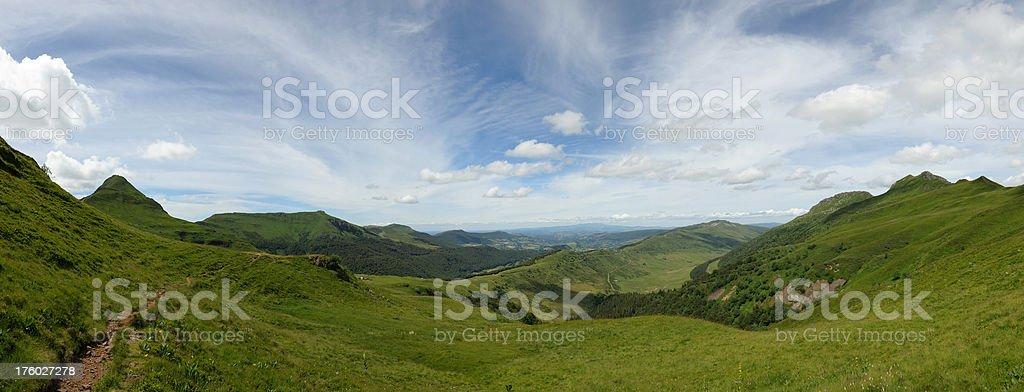 Cantal panorama stock photo