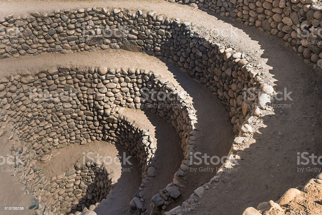 Cantalloc Aqueduct near Nazca, Peru stock photo