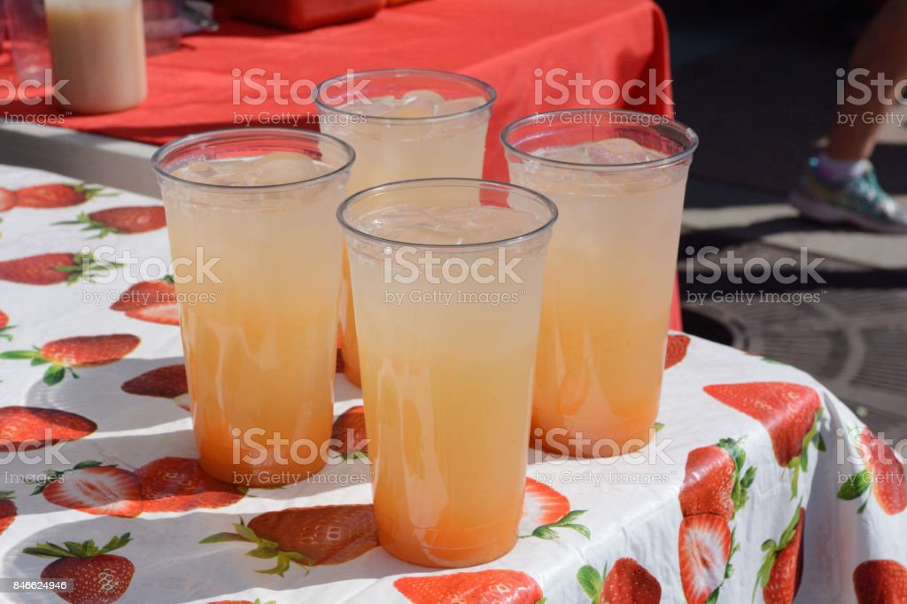 Cantaloupe drink stock photo