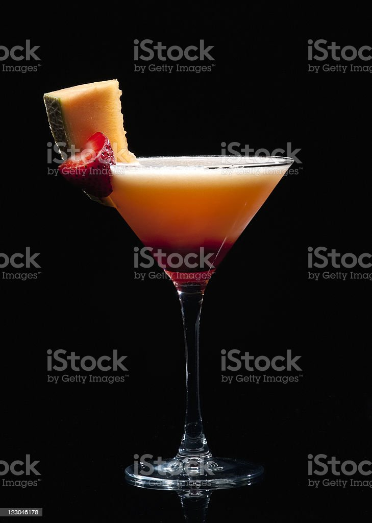 Cantaloupe Melon Martini stock photo