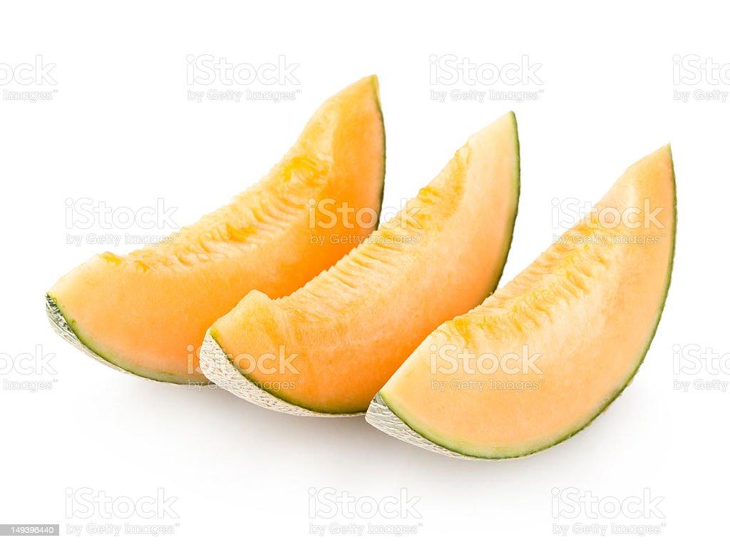cantaloupe melon slices royalty-free stock photo