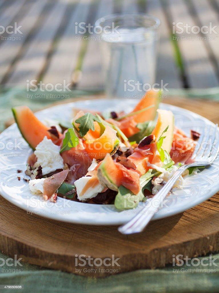 Cantaloupe salad stock photo