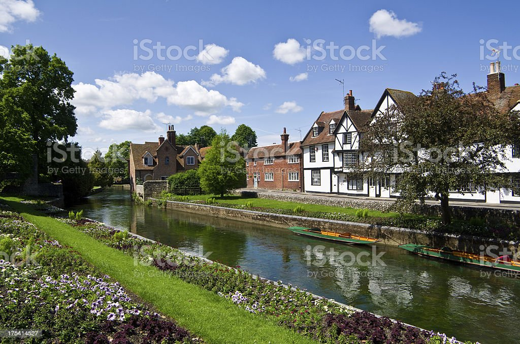 Canterbury and the River Stour stock photo
