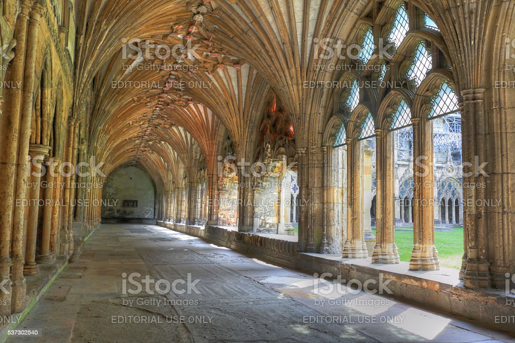 Canterbury cathedral Cloister. stock photo