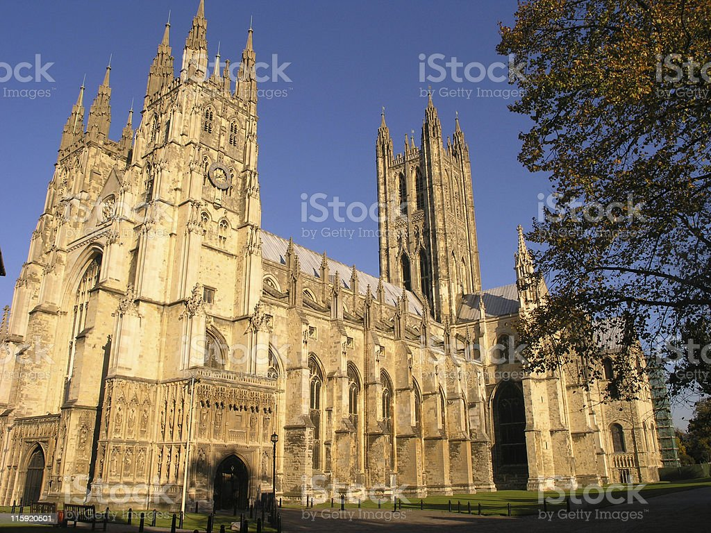 Canterbury cathedral during the day stock photo