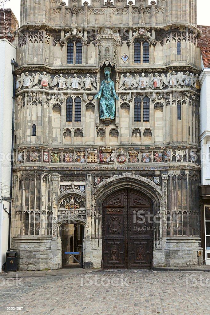 Canterbury Cathedral entrance royalty-free stock photo