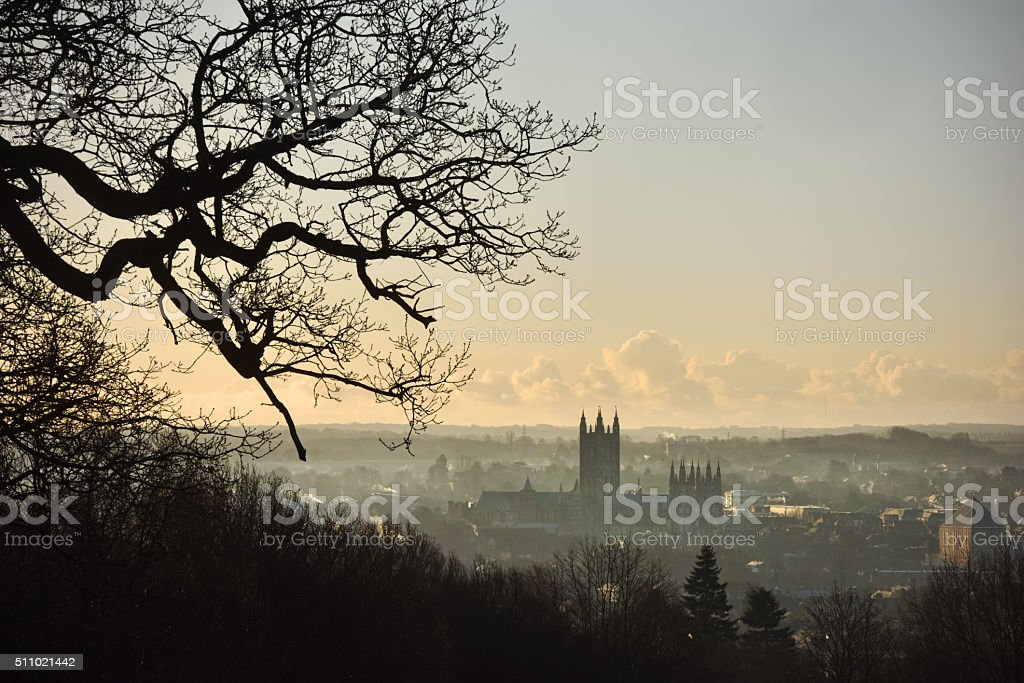 Canterbury dawn stock photo