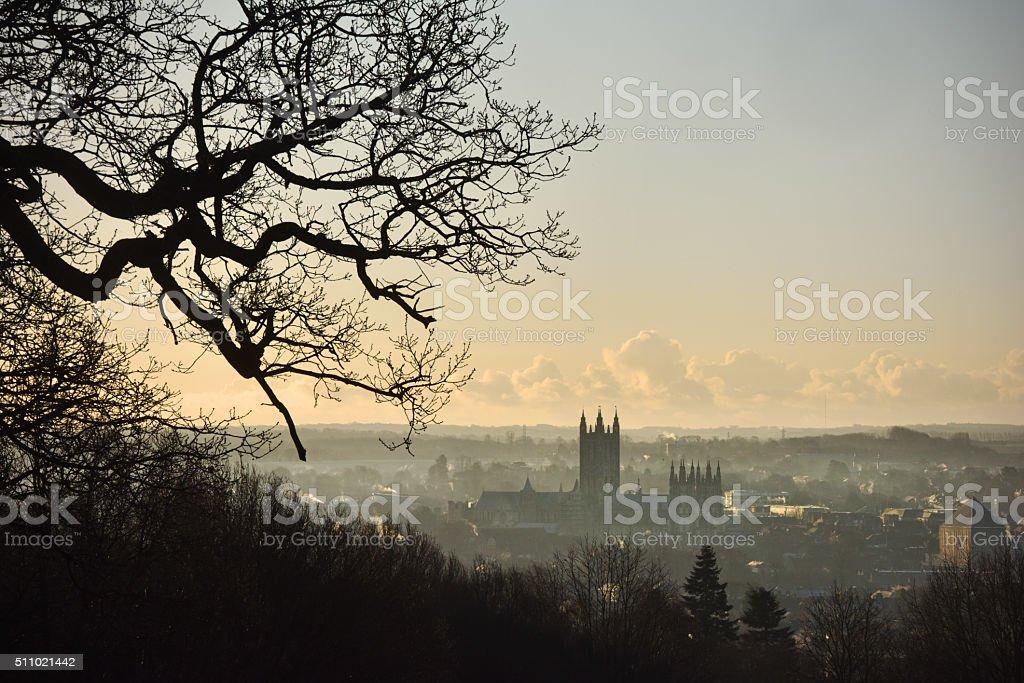 Canterbury dawn stock photo