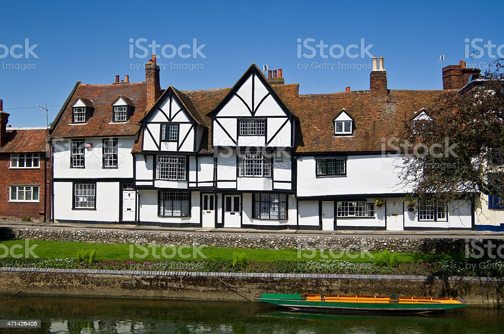 Canterbury houses royalty-free stock photo