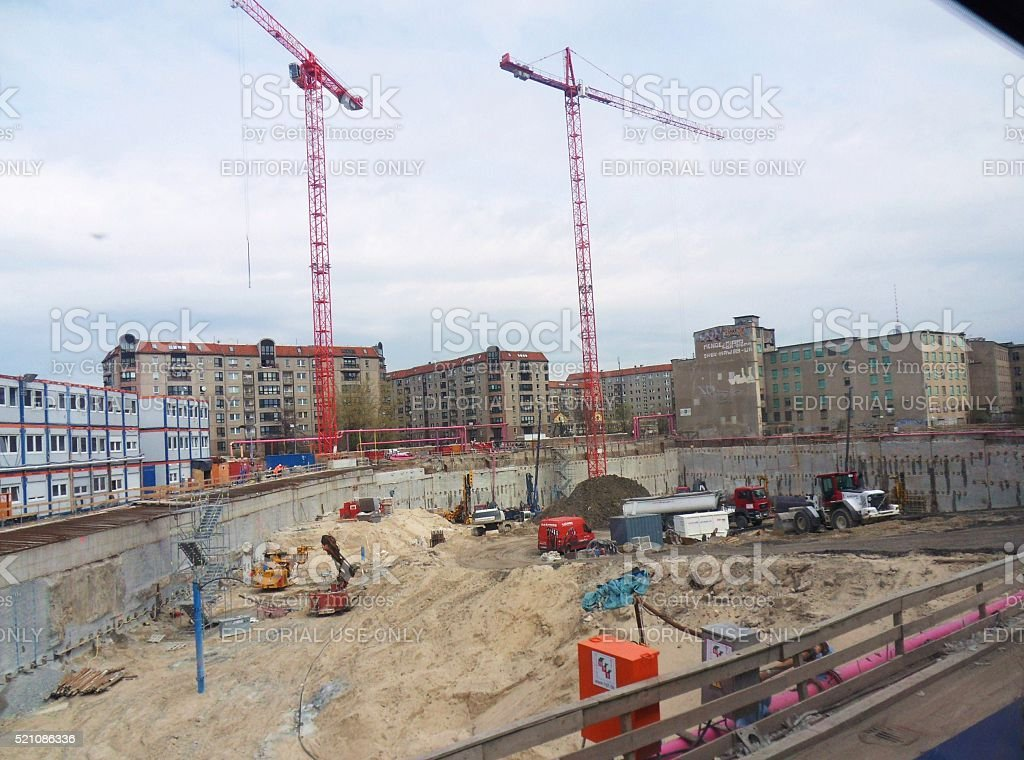 Cantiere del Mall of Berlin stock photo