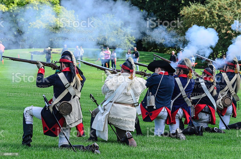 Cantigny Revolutionary War Reenactment stock photo