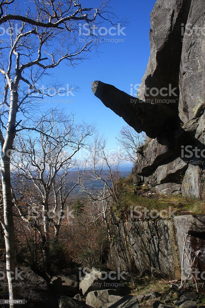 Cantilever Rock, Mount Mansfield, Vermont stock photo