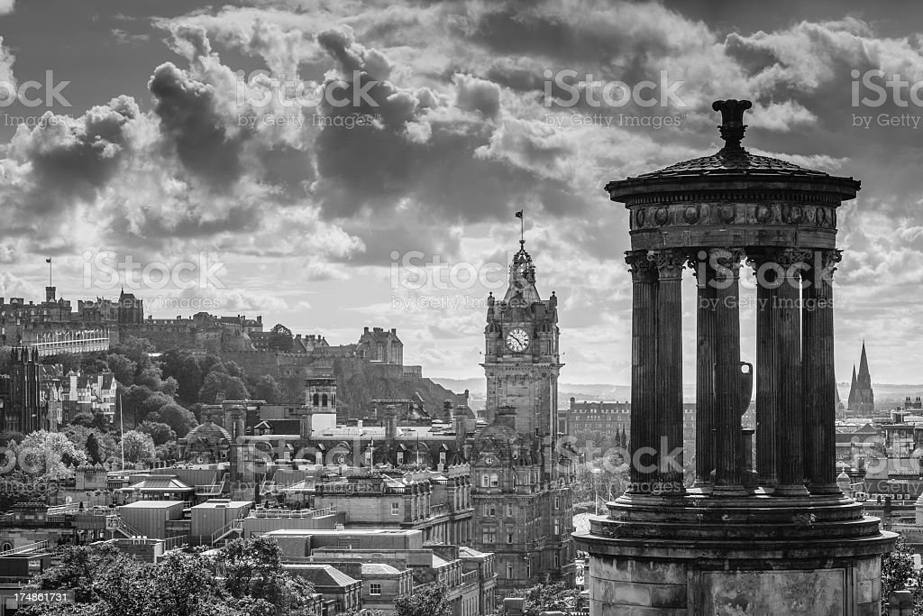 Canton Hill and views of the City Edinburgh stock photo