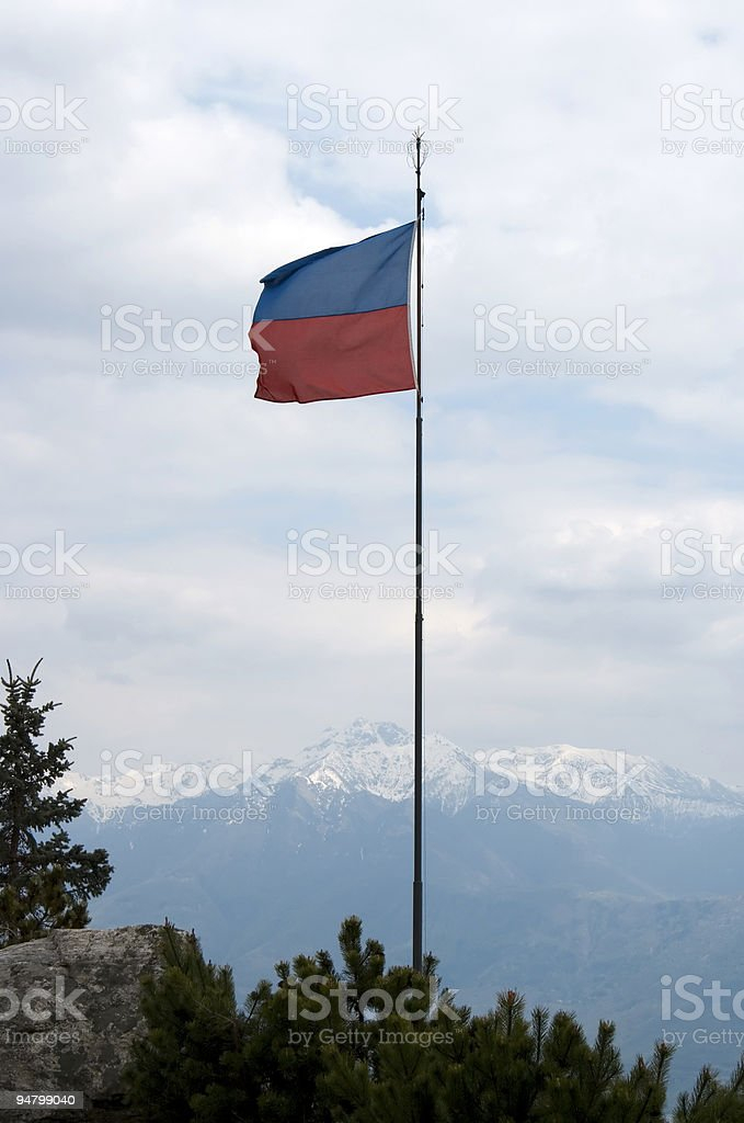Canton Ticino (Swiss) flag royalty-free stock photo
