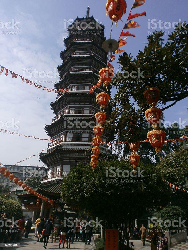 Pagoda cantonesa foto de stock libre de derechos
