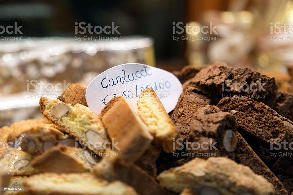 Cantucci - Biscotti stock photo