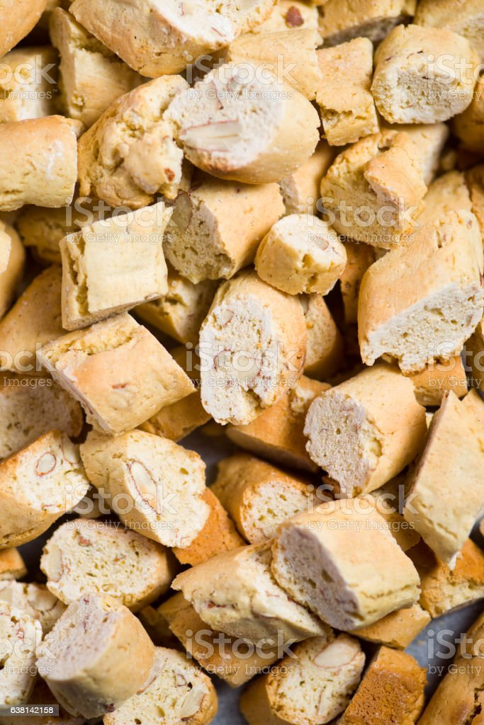 Cantucci close up stock photo