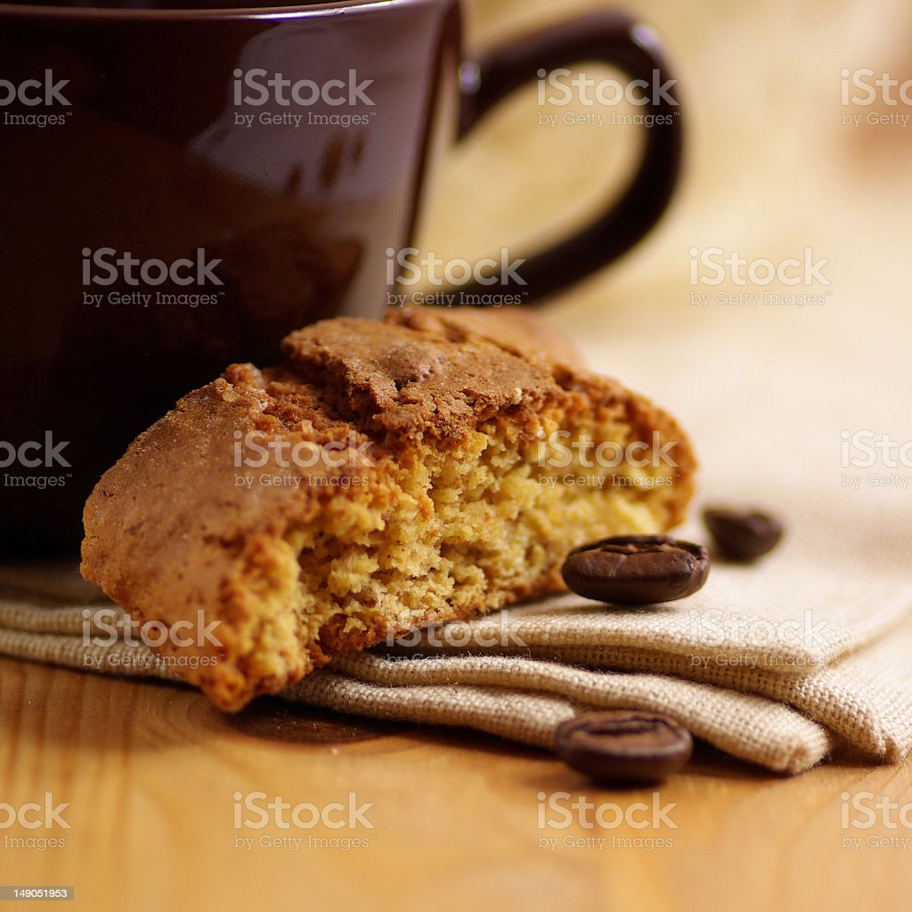 Cantuccini and coffee royalty-free stock photo