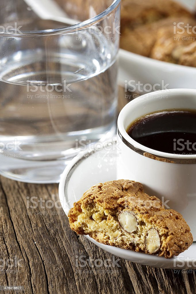 Cantuccini and espresso royalty-free stock photo