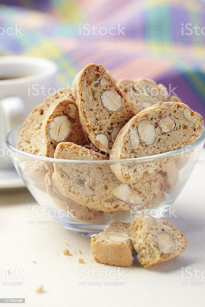 Cantuccini cookies royalty-free stock photo