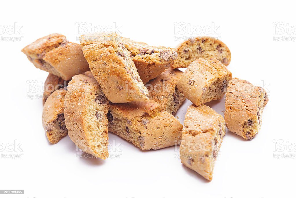 Cantuccini cookies stock photo
