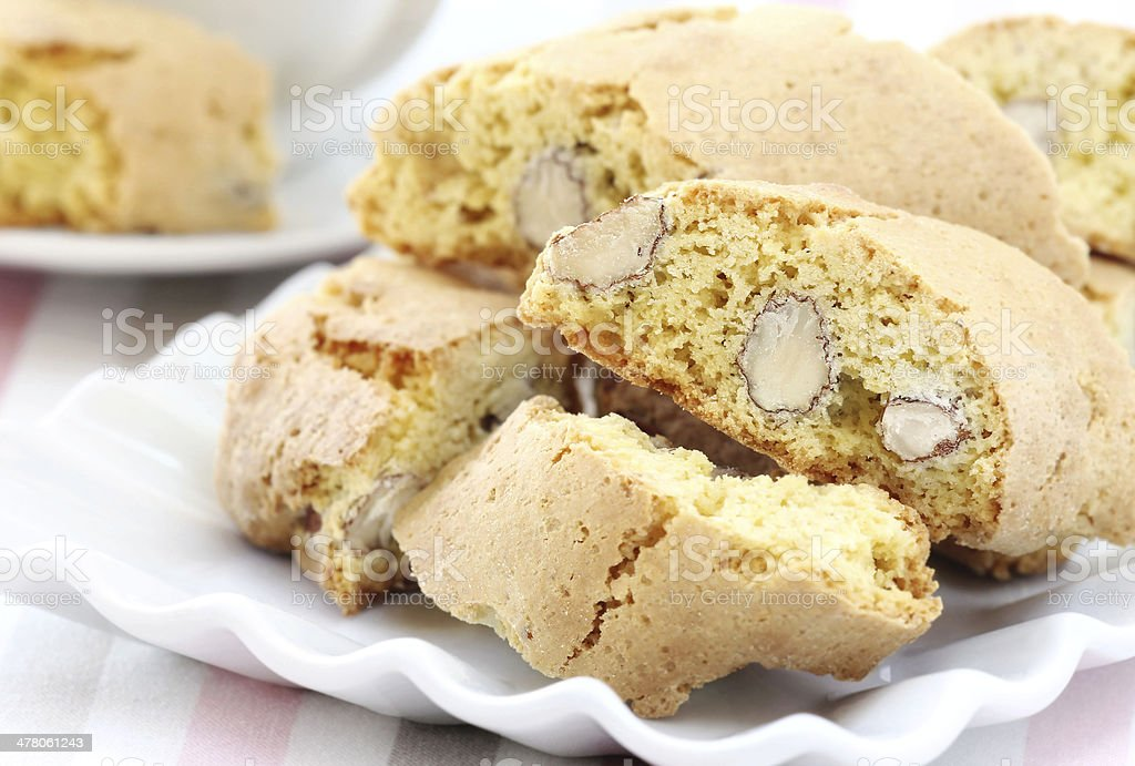 Cantuccini or cantucci royalty-free stock photo