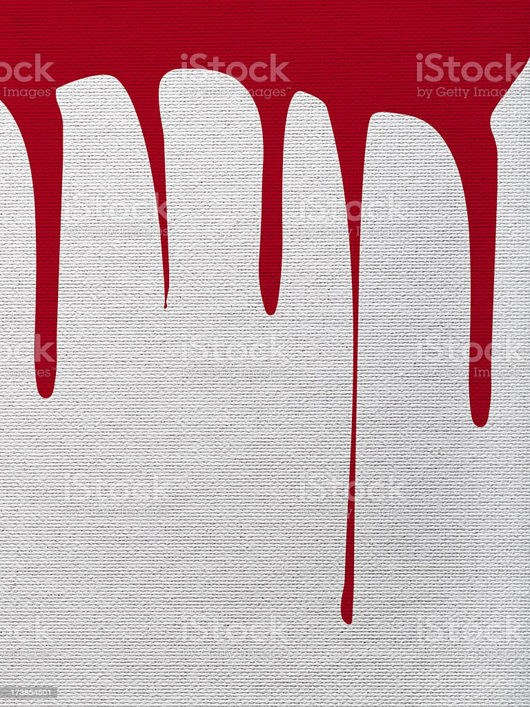 Canvas at a crime scene royalty-free stock photo