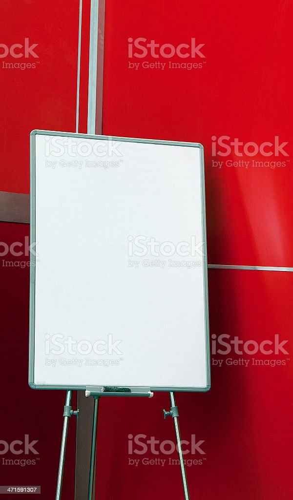 canvas board isolated on red royalty-free stock photo