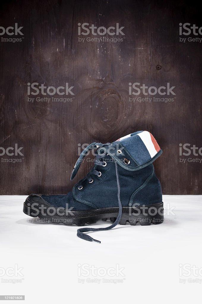 Canvas Boot Profile Shot stock photo