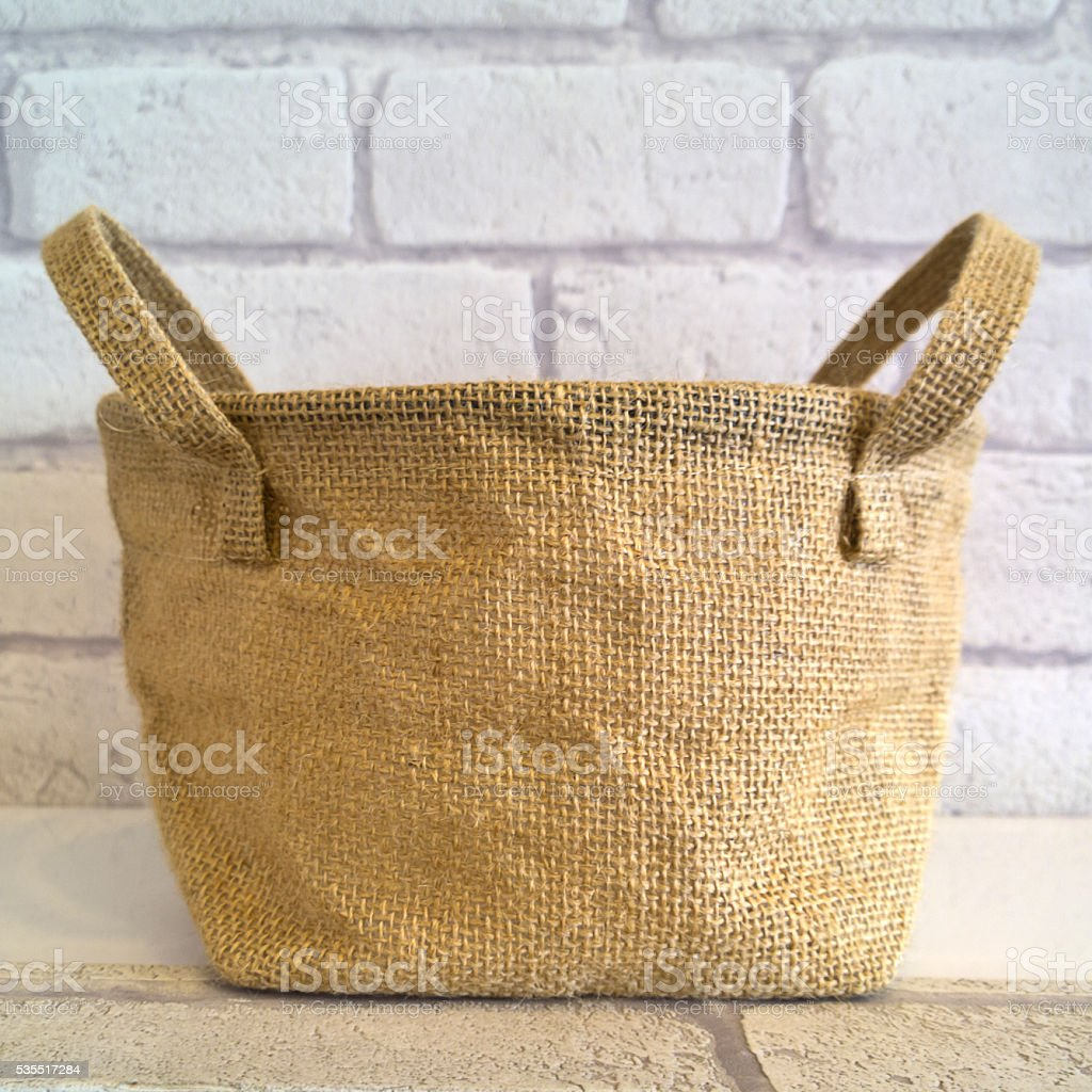 Canvas Burlap sack stock photo