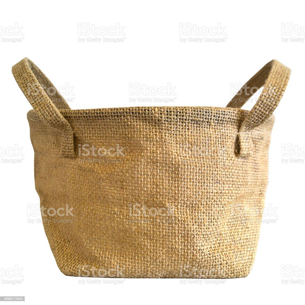 Canvas Burlap sack stock photo