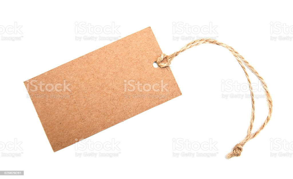 Canvas empty price tag stock photo