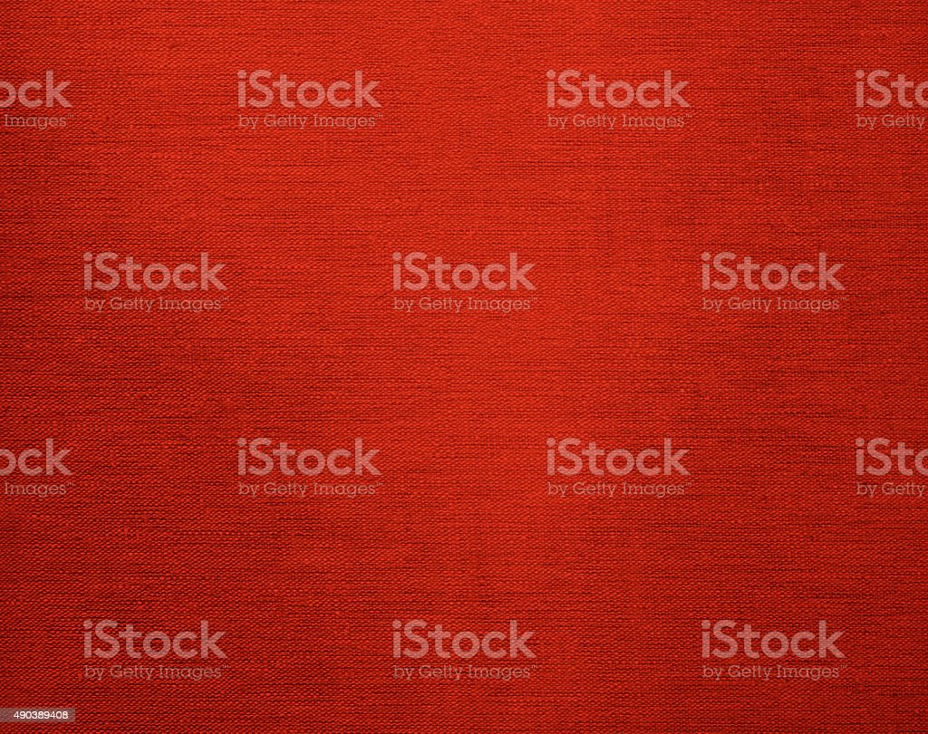 Canvas grunge background texture in red color stock photo