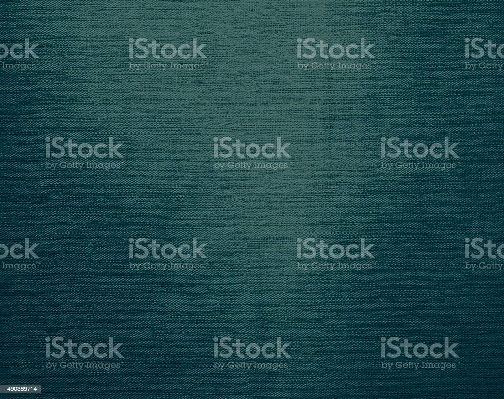 Canvas grunge background texture in teal blue color stock photo
