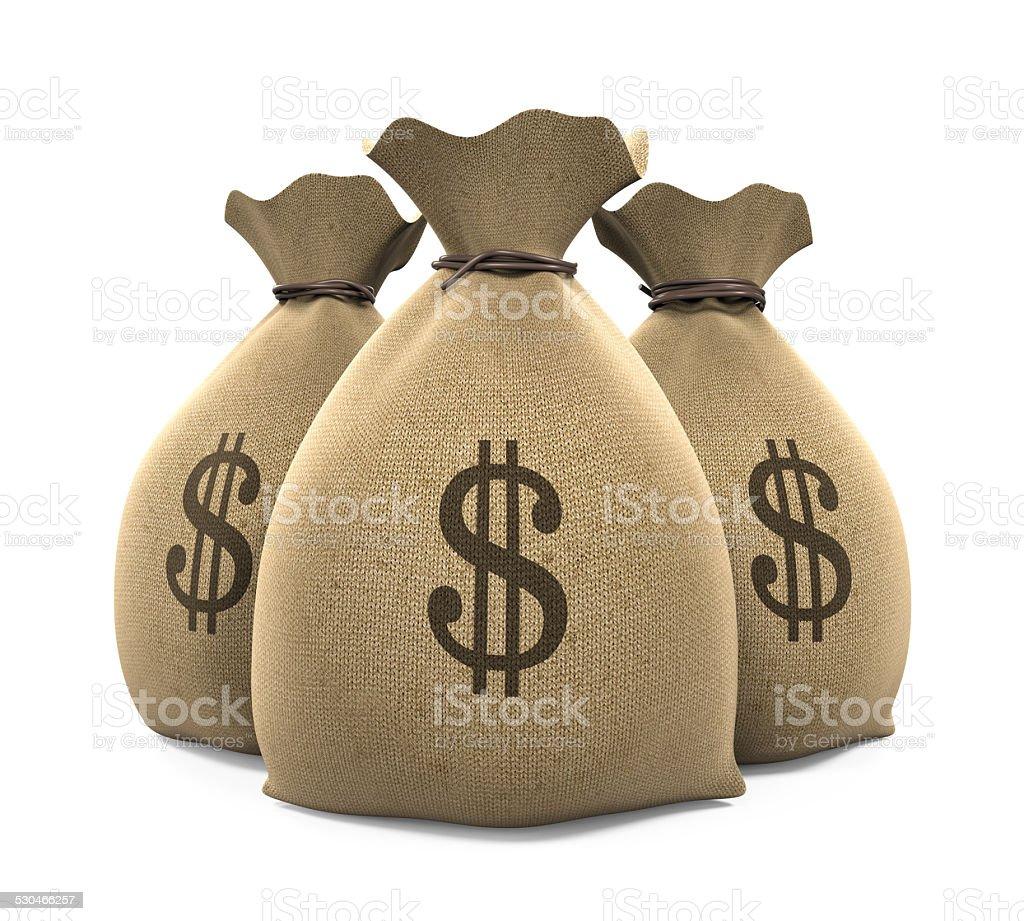 Canvas Money Sacks stock photo