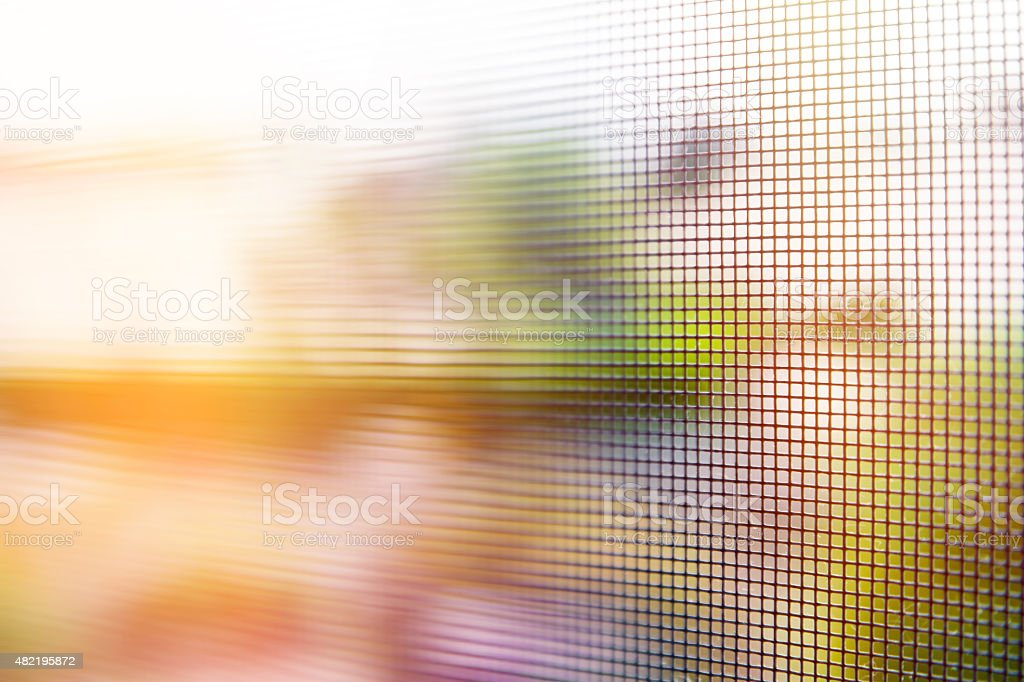 Canvas mosquito net abstract selective focus background stock photo