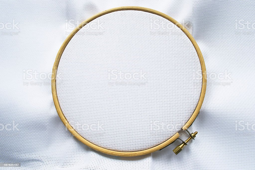 Canvas on hoop stock photo