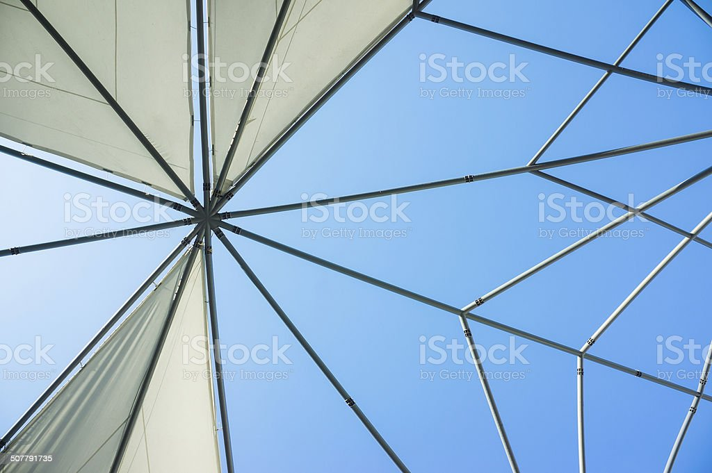 canvas roof stock photo