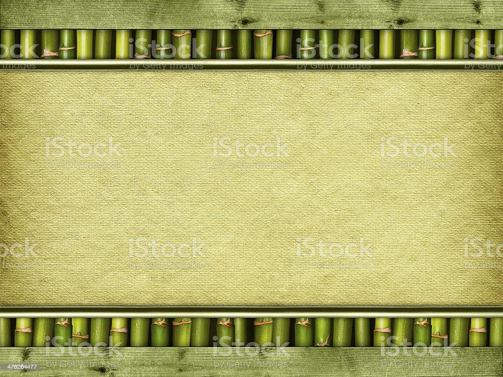 Canvas sheet on bamboo sticks royalty-free stock photo