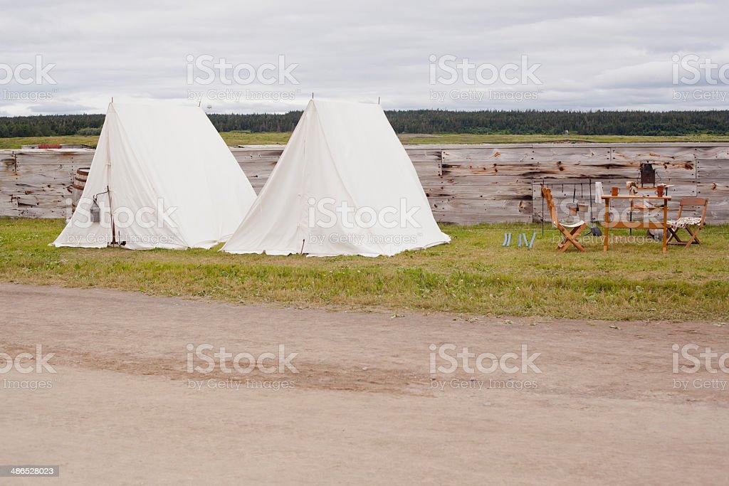 Canvas Tents stock photo