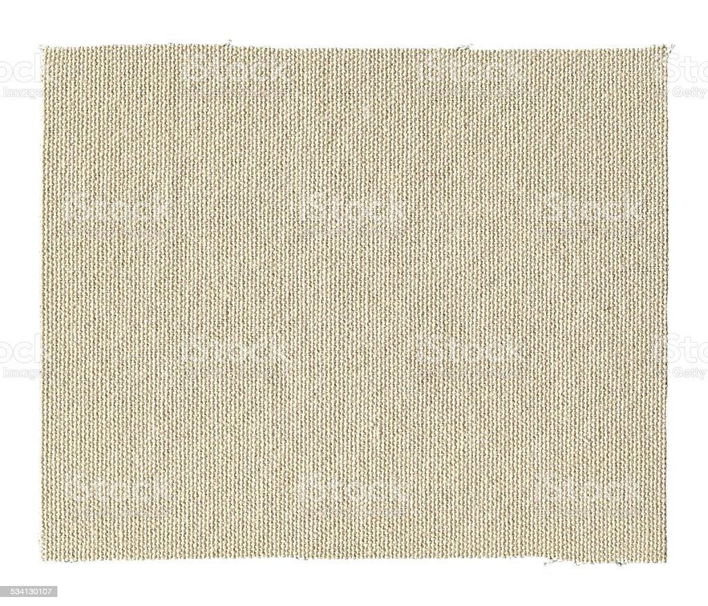 Canvas textile patch textured background isolated stock photo