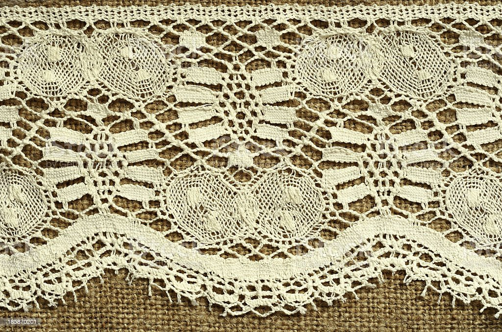 Canvas with lace royalty-free stock photo