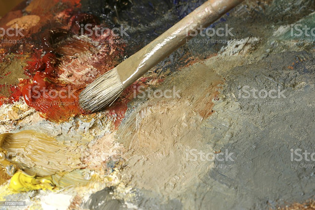 Canvas with paint brush texture royalty-free stock photo