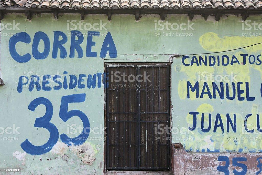 canvassing in Ecuador royalty-free stock photo