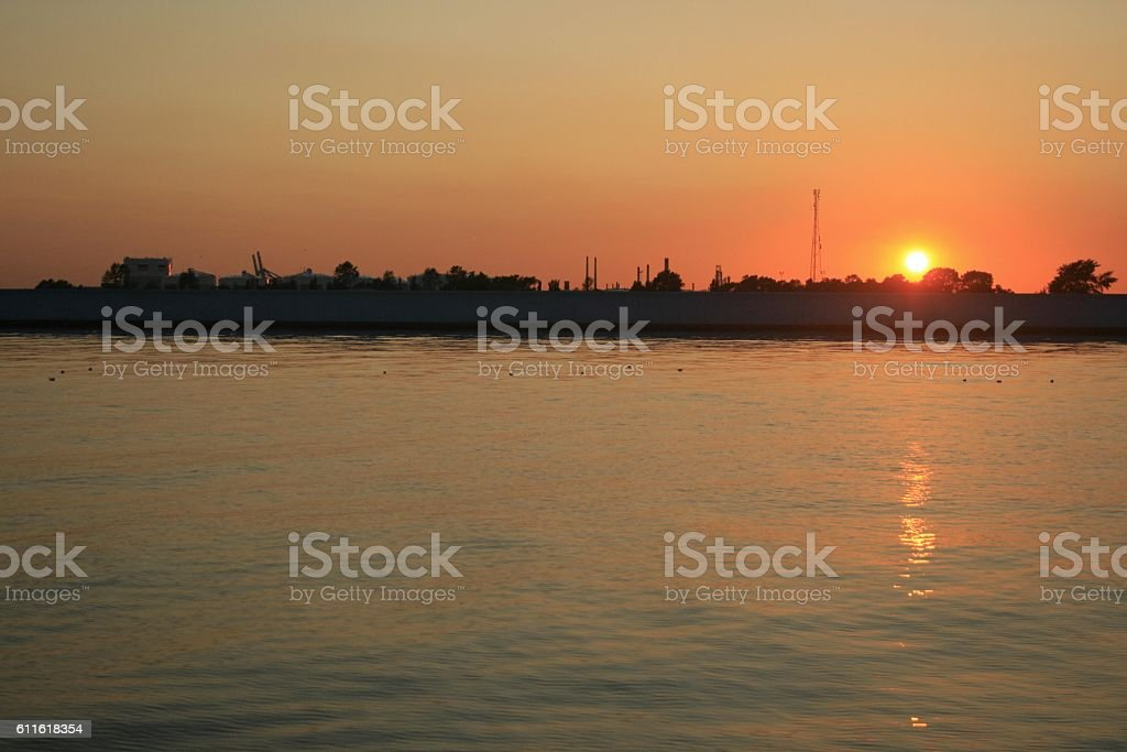 Canvey Sunset 2 stock photo