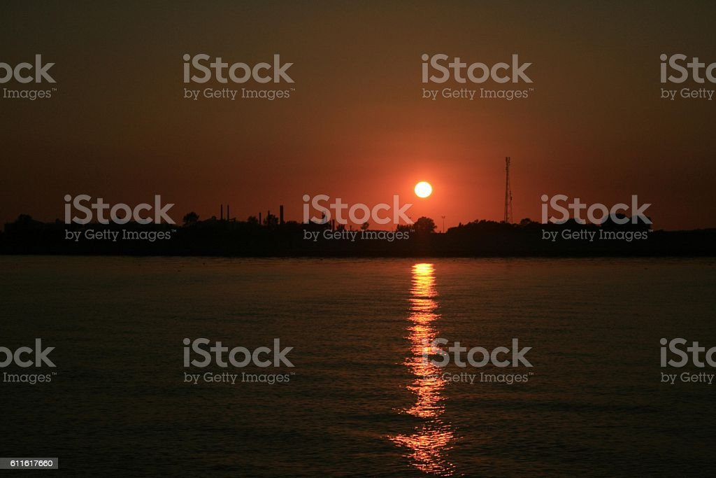 Canvey Sunset stock photo